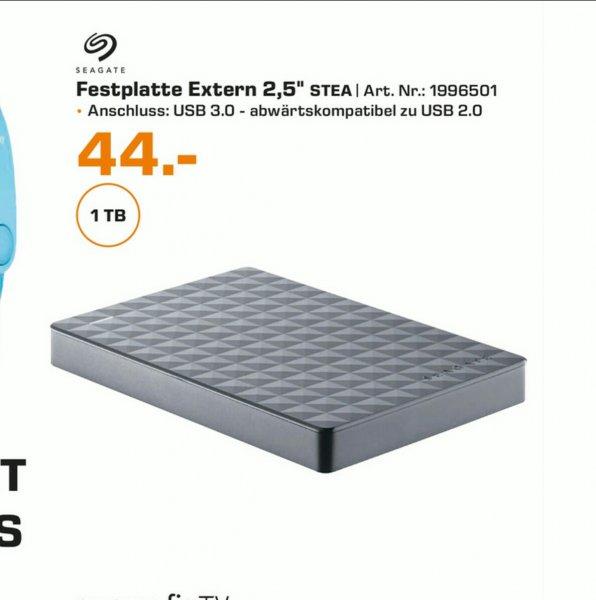 "(Lokal Köln Hansaring)Seagate Expansion Portable 1TB 2,5"" USB 3.0 für 44€ @ Saturn"