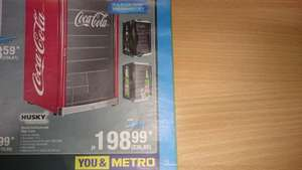 236,80 brutto Lokal Metro Augsburg Husky High Cube Kühlschrank 115 L Coca Cola Becks Afri