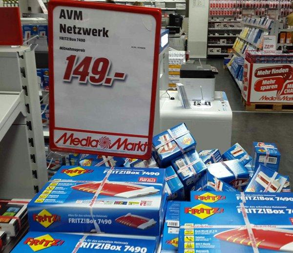 Fritzbox 7490 Avm lokal Media Markt Köln