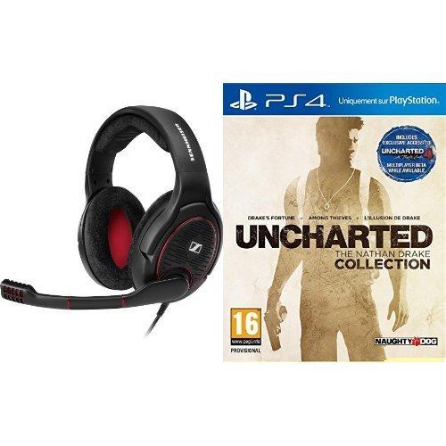 Sennheiser G4ME One schwarz Headset für PC, Mac, PS4 & Xbox One kompatibel + Uncharted : The Nathan Drake Collection (PS4) inkl. Vsk für 165,91 € > [amazon.fr] > Blitzangebot