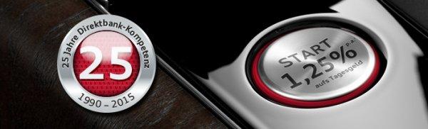 Audi / VW Bank erhöht Tagesgeld Zins auf 1,25 % evtl. noch 45,-€ Qipu