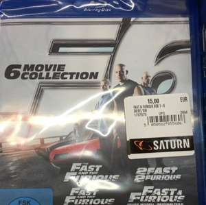 Fast and the furious 1-6 Blu Ray box 15€ Lokal Wuppertal Saturn