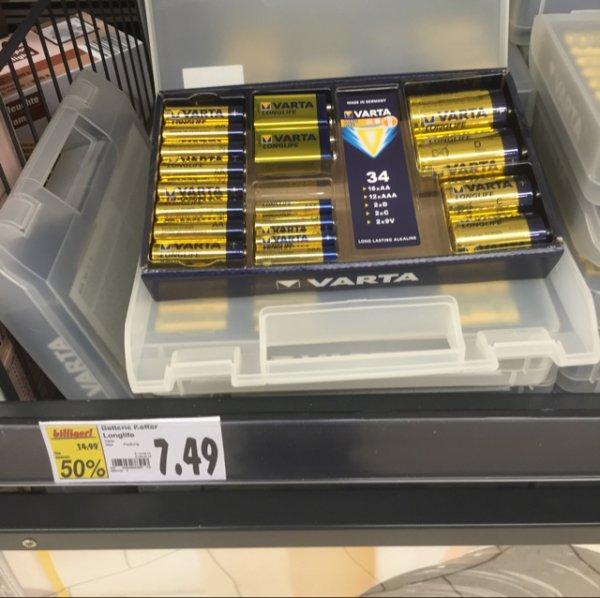7,49€ Varta Batteriebox 34 teilig [Kaufland Velbert]