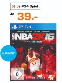 [Lokal Saturn Braunschweig] NBA 2K16 (PS4) für 39,-€