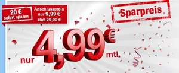 10 Jahre simply Aktion 1GB/2GB LTE + 50/100 Min + SMS Flat für 4,99 bzw 8,99  mtl. kündbar
