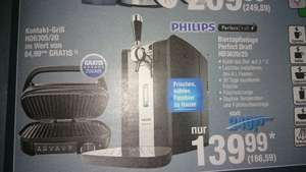 [Metro] Philips Perfect Draft HD 3620 + Kontaktgrill Philips HD6305/20 (82,28€ gespart)