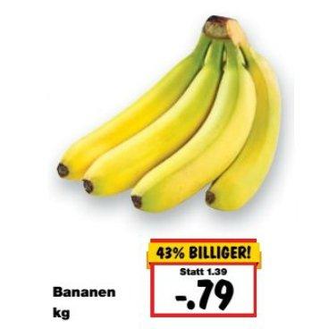 [KAUFLAND BY/BW] KW42: Bananen 1,0kg für 0,79€ (15.-17.10.2015) zum Super-Weekend