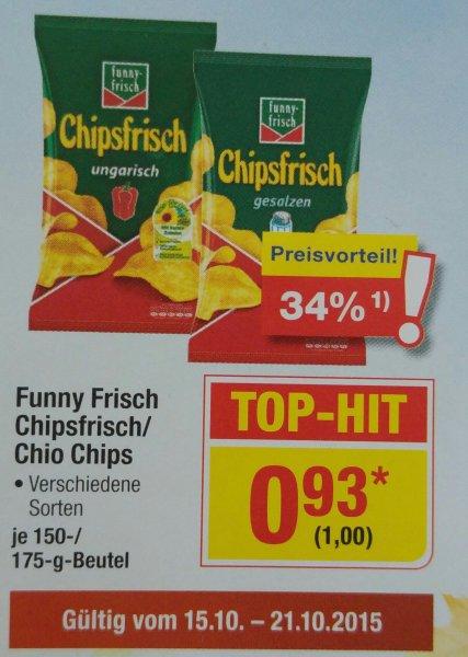 Chipsfrisch (funny-frisch) und Chiochips verschiedene Sorten @Metro