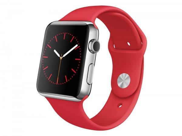 [Gravis über welt.de] APPLE Watch Edelstahlgehäuse mit Sportarmband [Product Red] für 394,29 € (38mm) / 434,08 € (42mm)   VGP: 648,90 € / 698,90 €