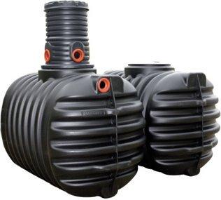 [gartenxxl.de] Erdtank / Zisterne mit 5300 Liter von 4rain inkl. Domschacht und PE- Deckel
