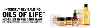 The Body Shop, Coupon für 5 Gratispröbchen des Oils of Life.Abholung in der Filiale