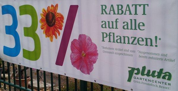 [BERLIN] 33% auf Pflanzen beim Gartencenter PLUTA