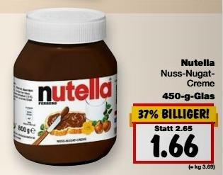 [Kaufland Dortmund] Nutella 450-g-Glas für 1,66 €