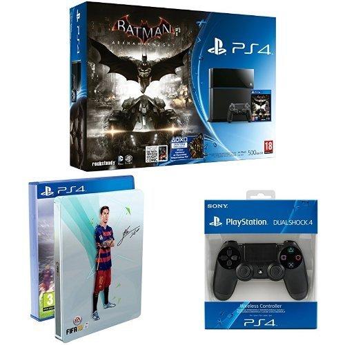 (Amazon.fr) Playstation 4 - 500 GB + Fifa 16 + Batman + 2. Controller für 404,16 inkl. Versand