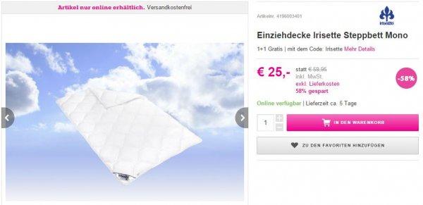 """[Mömax] 2 x Bettdecke """"Irisette Mono"""" 135x200cm für 25,00€ statt 119,90€"""