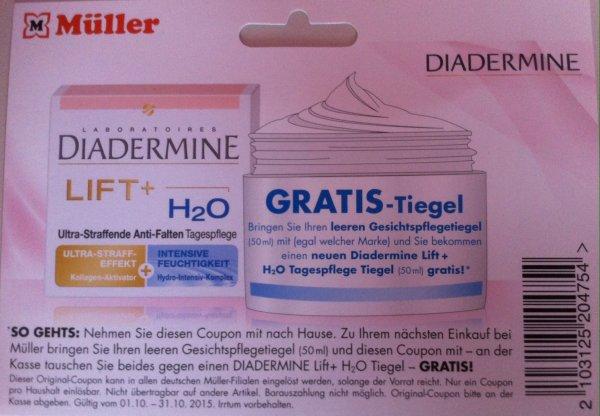 Diadermine Creme gegen leeren Tiegel (egal welcher Marke)