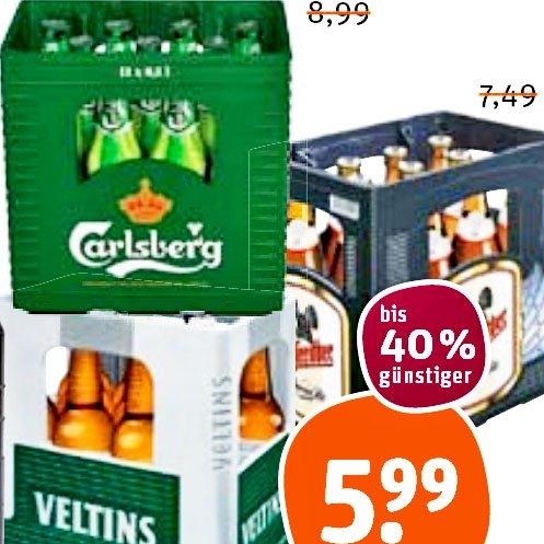 gutes, leckeres Bier in der 11er Kisten z.B. Beck's, Carlsberg Beer, Krombacher, Hasseröder, Veltins für 5,99€ [tegut]