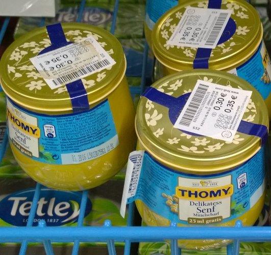 TEDI Thomy Senf 325ml Glas für 0,30€