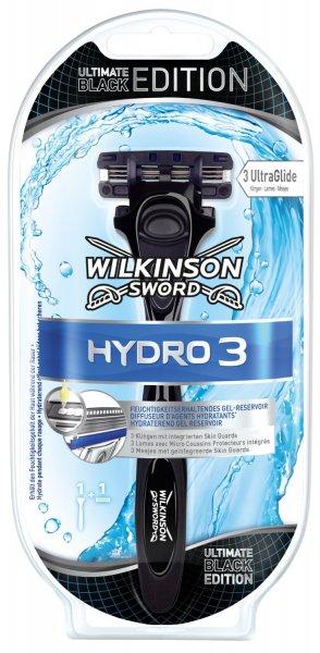 Wilkinson sword hydro 3 ultimate black Rasierer mit 1 klinge 1.30 Euro PlusProdukt