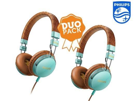 2x Philips On-Ear-Kopfhörer mit Headset Funktion bei ibood für € 34,95+ € 5,95 Versand