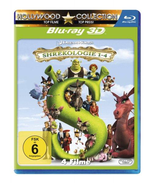 Shrek - Die komplette Geschichte - Quadrilogy [3D Blu-ray] für 29,97 € > [amazon.de]