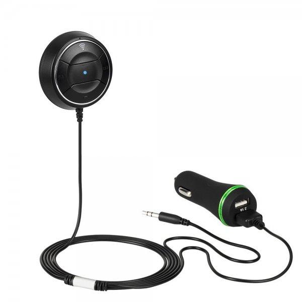 "[Amazon.de Prime] 8€ Rabatt auf ""Air Zuker Auto Bluetooth Empfänger mit NFC"" [Bluetooth 4.0, 3.5mm Audio Klinke, Freisprechfunktion, 2.1A Dual USB Port KFZ Ladegerät] / 13,99€"