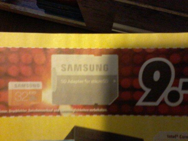 MEDIMAX nur am 16.-17.10.15 SAMSUNG 32GB micro SDHC + Adapter für 9€