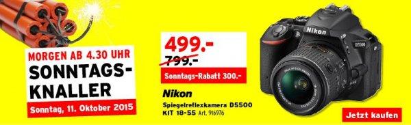 [SCHWEIZ] Nikon D5500 Kit mit 18-55mm Objektiv für 499 SFr. bei Interdiscount - auch offline