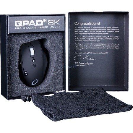 [ZackZack] QPAD 8K Pro Gaming Laser Mouse für 49,90€ Versandkostenfrei