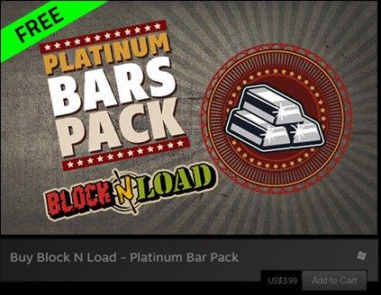 """[Steam] """"Block N Load - Platinum Bar Pack"""" DLC (im Wert von 3,99 Euro) kostenlos bei Razer"""