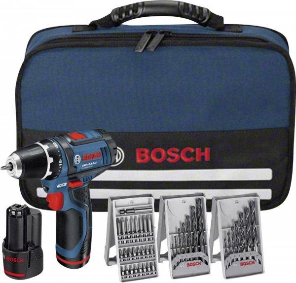 Bosch Akkubohrschrauber GSR 10,8-2-LI +39-tlg Zubehör für 99,99€ (mit Payback nur 92,50€)