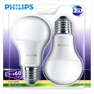 [Allyouneed] 4x Philips LED E27 (9W, 806lm, 2700 K = warmweiß, 80 Ra, 200°) für 16,90€