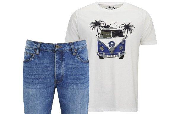 (TheHut.de) Gratis Brave Soul Jeans im Wert von 55€ beim Kauf eines Salvage T-Shirts für 25,10€