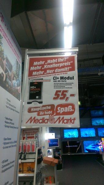 [Lokal Rhein-Main] HD+Modul inkl. 12 Monats HD+ Karte 55€ im Media Markt Bischofsheim nur Heute