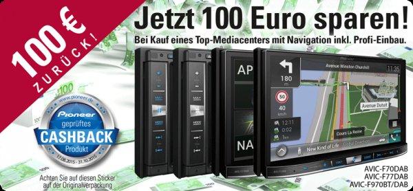 Pioneer AVIC-F70DAB Navigationssystem mit 7Zoll Display -100 Euro Cashback (4 verschiedene Systeme)
