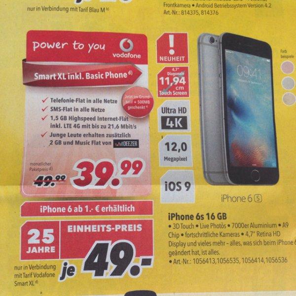 Vodafone Smart XL + iPhone 6s