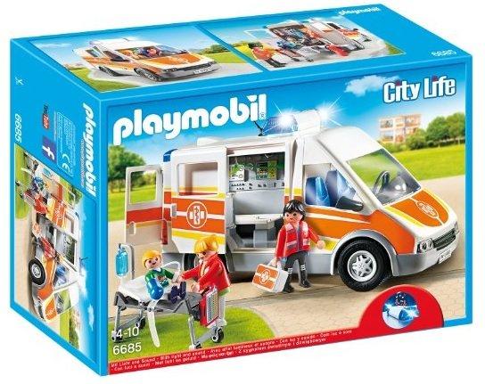 [Amazon (Prime)] Playmobil Krankenwagen mit Licht und Sound  // Feuerwehr-Team 3€ unter Idealo