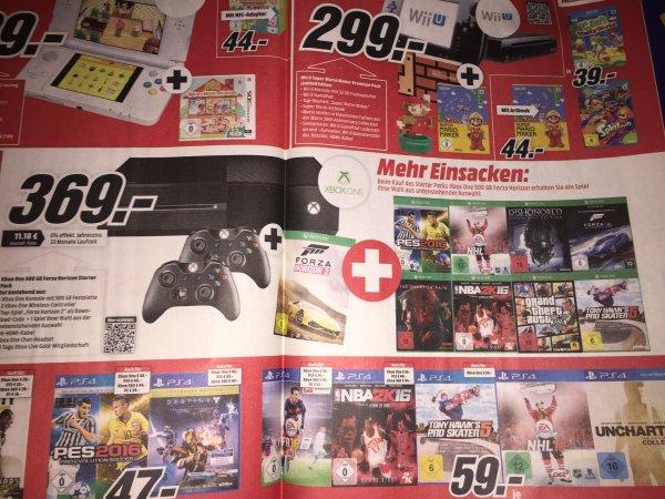 [Media Markt /Aachen] X-Box One 500GB + 2te Controller+ Forza Horizon 2 & ein Spiel nach Wahl (8 stehen zur Auswahl)