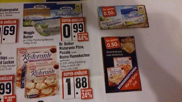 (Edeka Südbayern) Meggle Joghurtbutter 0,49 € / Dr. Oetker Ristorante Pizza 1,38 €
