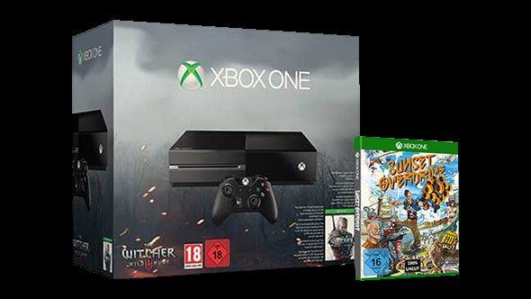 Xbox Witcher 3 Bundle + Sunset Overdrive + 25 € Store-Gutschein für 359 €