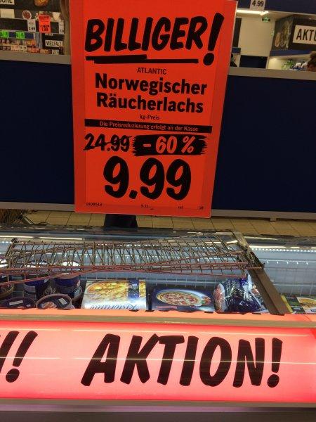 Norwegischer Räucherlachs LIDL 1 kg - 9,99 € - bundesweit