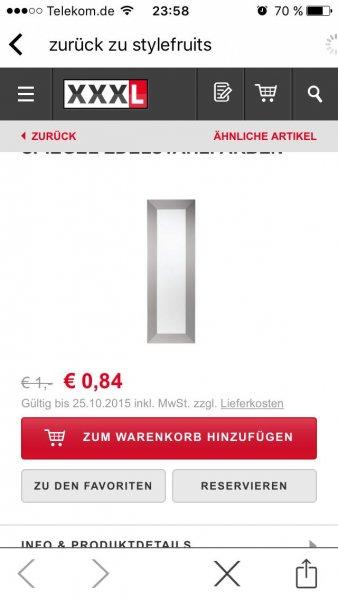 (XXXL-Online-Shop)  SPIEGEL Edelstahlfarben - •B/H: 50/150 cm 0,84 Euro + Versand 3,95