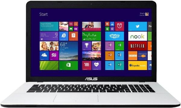 [Amazon] Asus F751MA-TY225H 43,9 cm (17,3 Zoll) Notebook (Intel Core 2-Quad N2940, 2,2GHz, 8GB RAM, 500GB HDD, Intel HD, DVD, Win 8) weiß