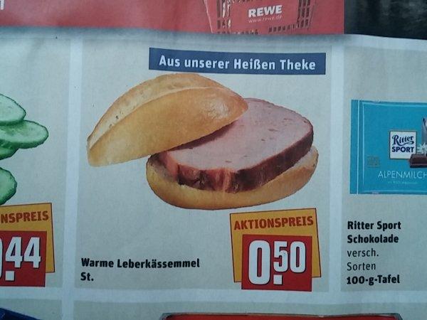 Rewe Bad Abbach - Leberkässemmel für 50 Cent