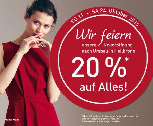 [Heilbronn] Modepark Röther 20% auf alles von 11.10 - 24.10