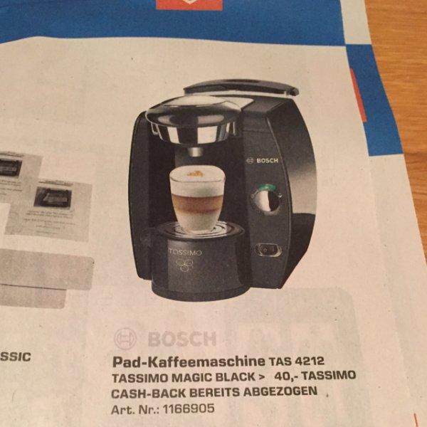 (Saturn Österreich) Bosch Tassimo Black TAS 4212 um 20 Euro