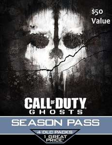 Call of Duty Ghosts Season Pass Download (PS4 & PS3) @GameDealDaily