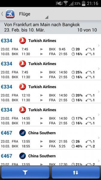FRA-BKK für 334 Euro mit Turkish Airlines