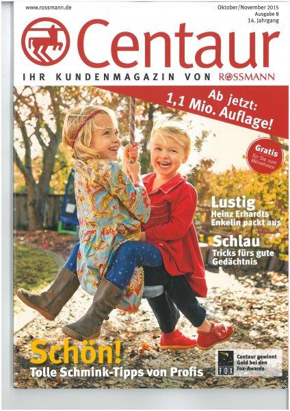 Centaur (Rossmann Kundenmagazin) mit Probe von ISANA Bodylotion Classic soft (6ml) - inkl. Scan der Coupons