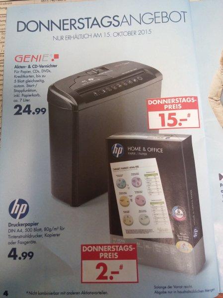 Karstadt Kaufrauschwoche - HP Druckerpapier am Donnerstag für 2€ (statt 4,99) + weitere Angebote